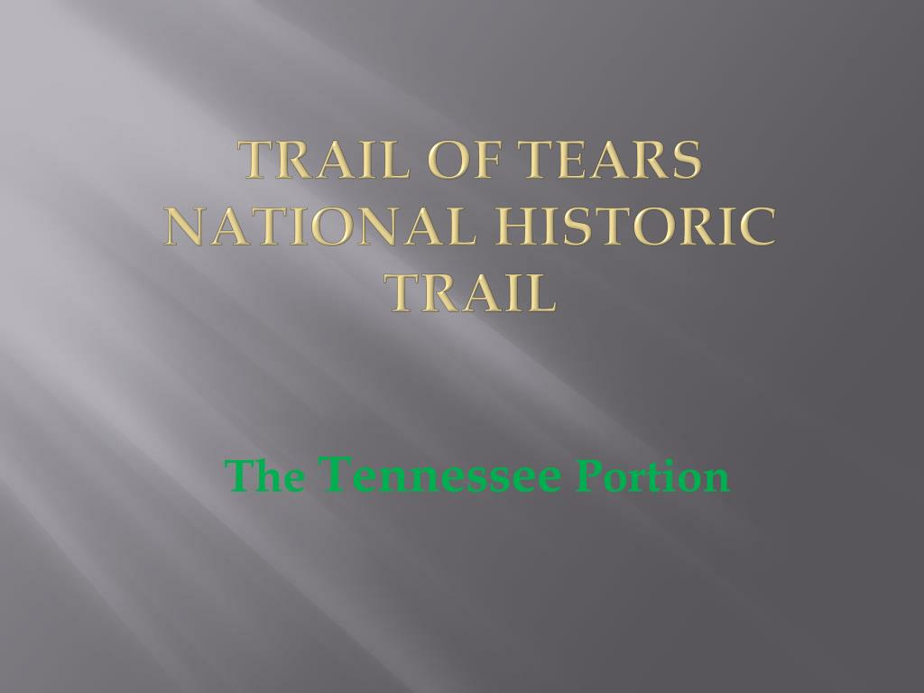 trail of tears national historic trail l.