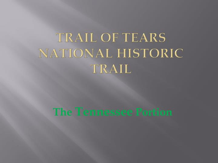 trail of tears national historic trail n.
