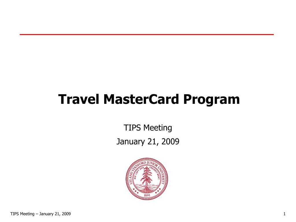 travel mastercard program l.