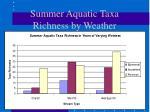 summer aquatic taxa richness by weather