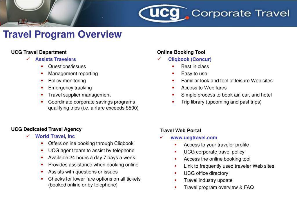 travel program overview l.