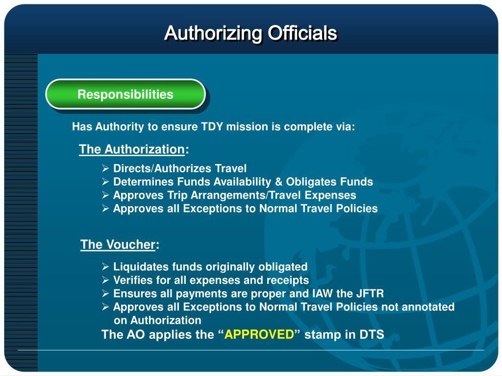 Authorizing Officials