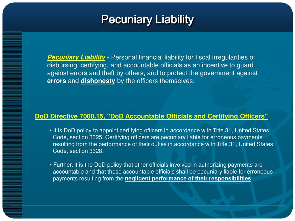 Pecuniary Liability