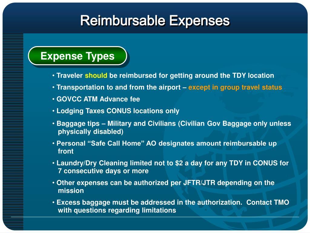 Reimbursable Expenses
