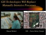 gis technologies will replace manually intensive processes