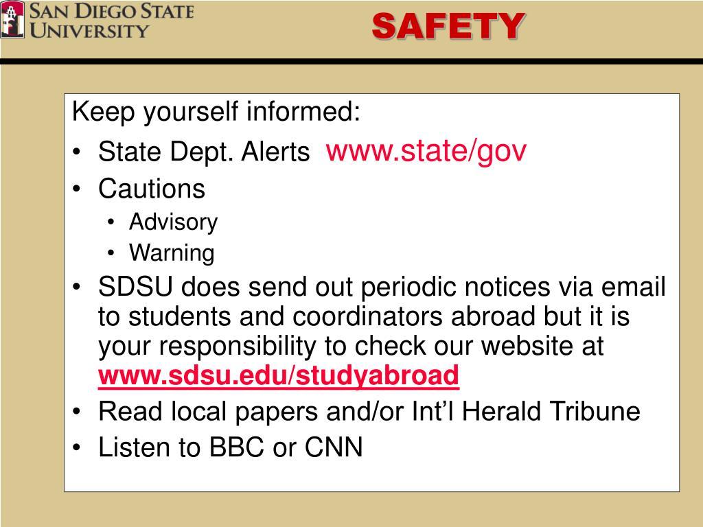 Keep yourself informed:
