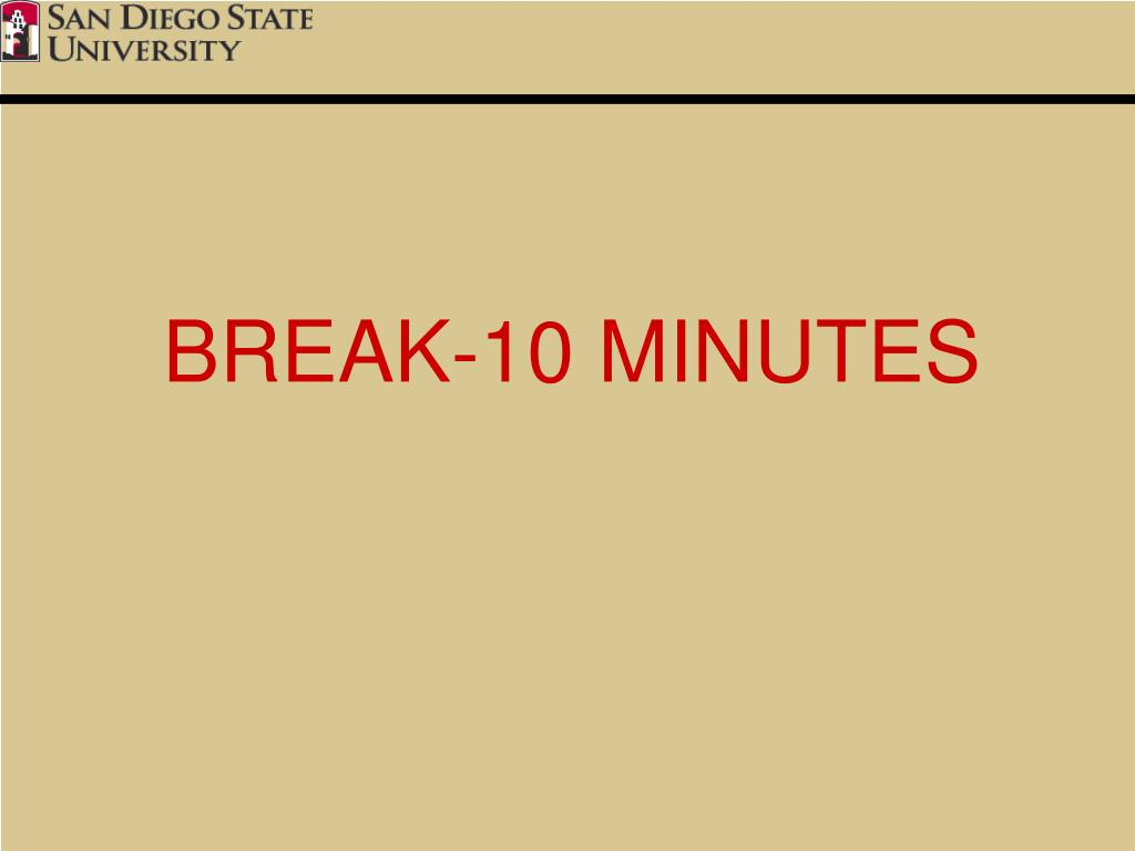 BREAK-10 MINUTES
