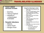 travel related illnesses