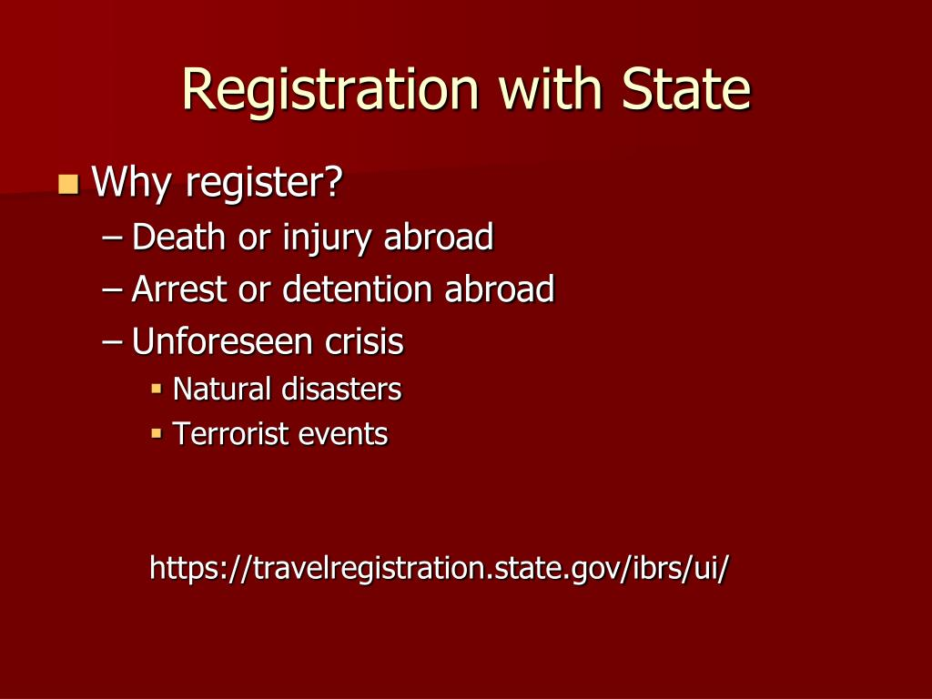 Registration with State