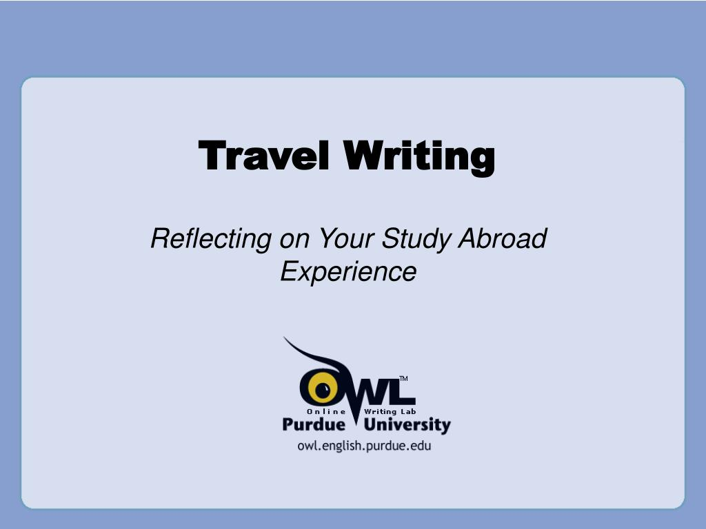 travel writing l.