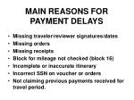 main reasons for payment delays