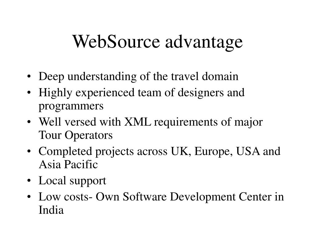 WebSource advantage