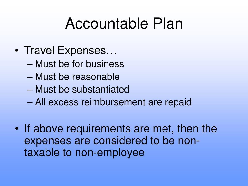 Accountable Plan