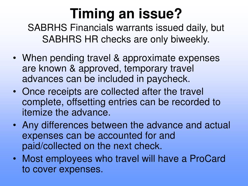 Timing an issue?
