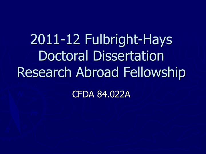 2011 12 fulbright hays doctoral dissertation research abroad fellowship n.