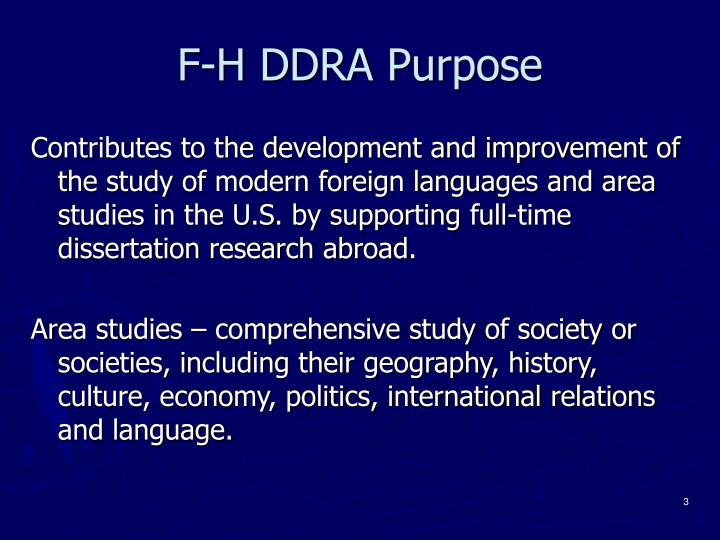 F h ddra purpose