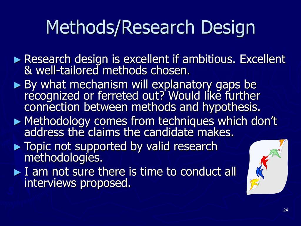 Methods/Research Design