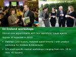 in ireland workshops
