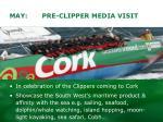 may pre clipper media visit