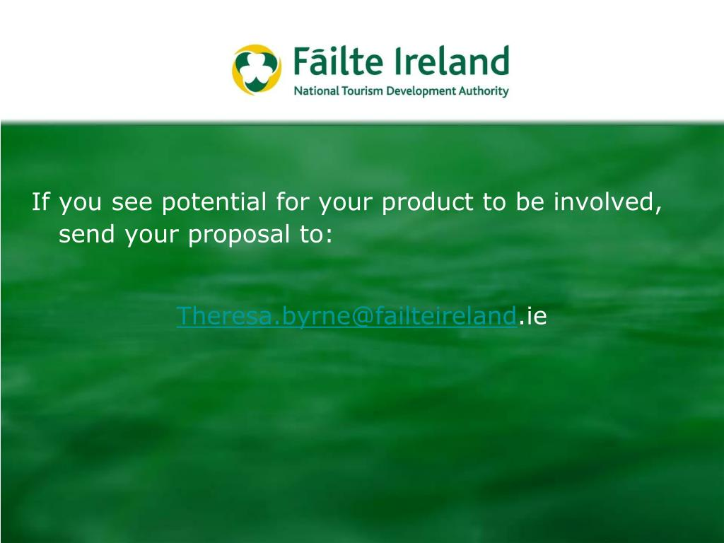 If you see potential for your product to be involved, send your proposal to: