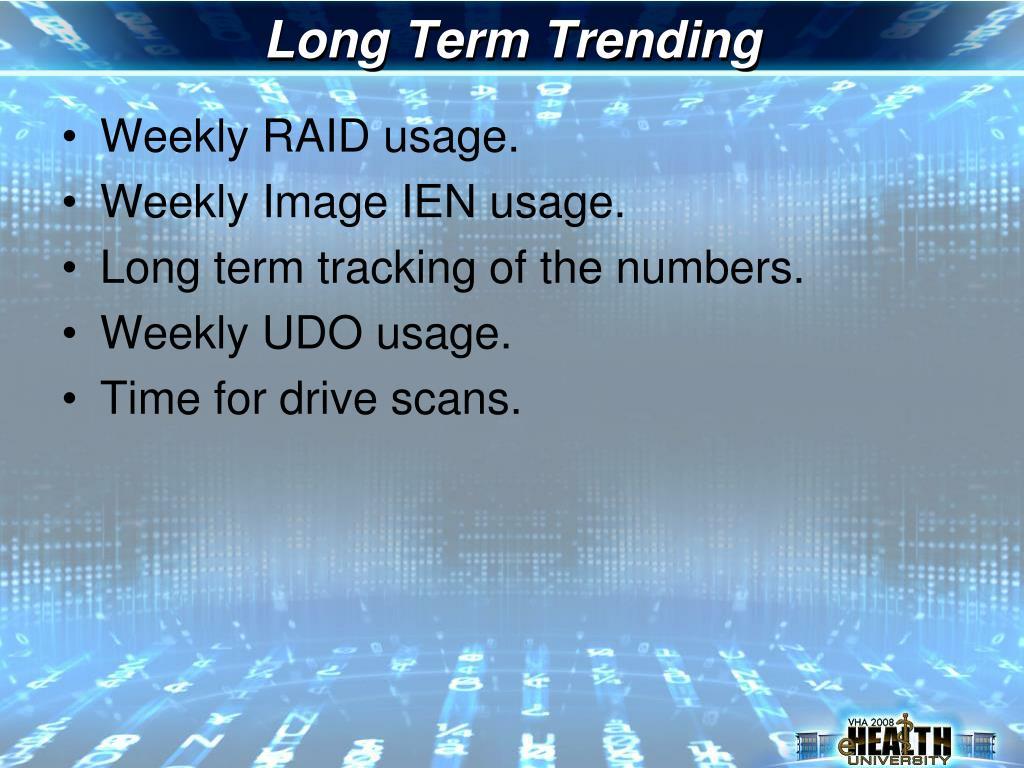 Long Term Trending