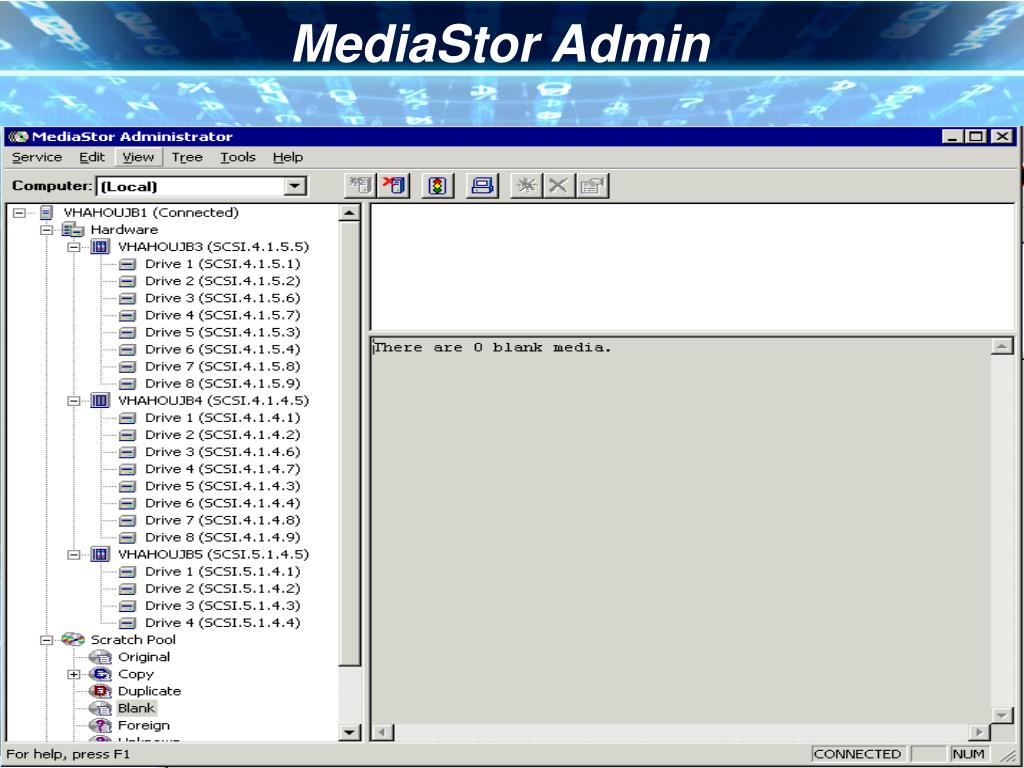 MediaStor Admin