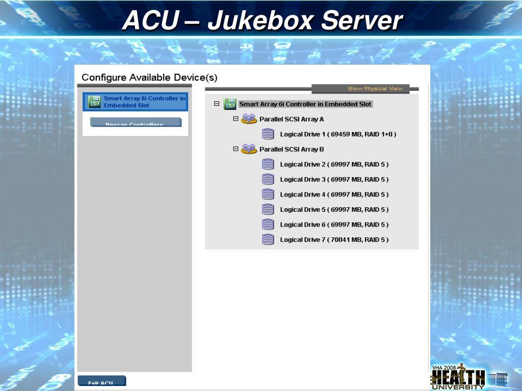 ACU – Jukebox Server