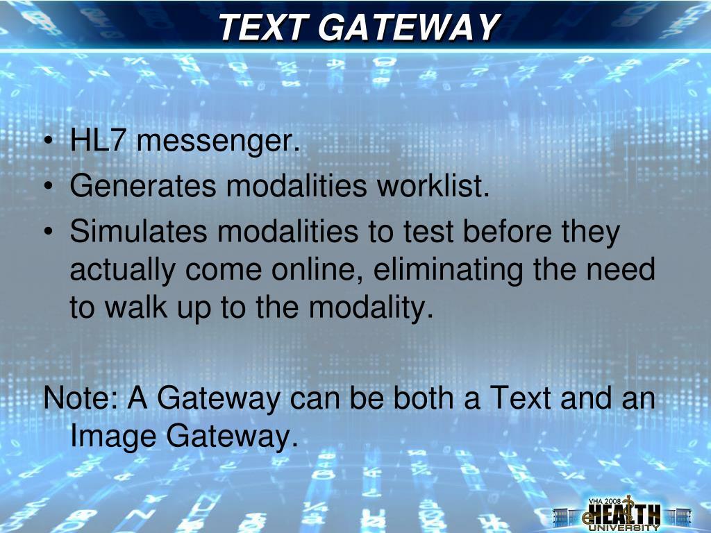 TEXT GATEWAY