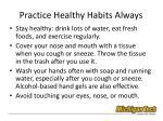 practice healthy habits always