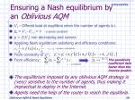 ensuring a nash equilibrium by an oblivious aqm