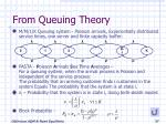 from queuing theory