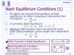 nash equilibrium conditions 1