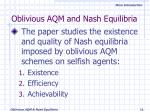 oblivious aqm and nash equilibria11