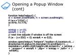 opening a popup window cont