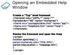 opening an embedded help window