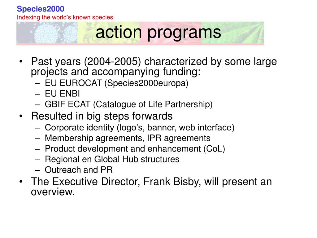 action programs
