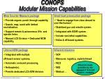 conops modular mission capabilities