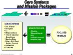 core systems and mission packages