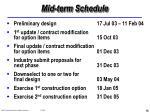 mid term schedule