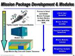 mission package development modules