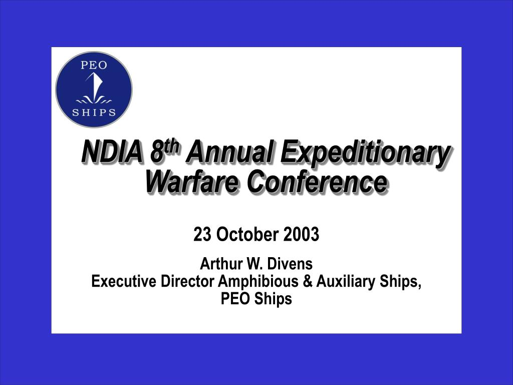 ndia 8 th annual expeditionary warfare conference l.