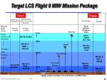 target lcs flight 0 miw mission package