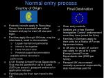 normal entry process