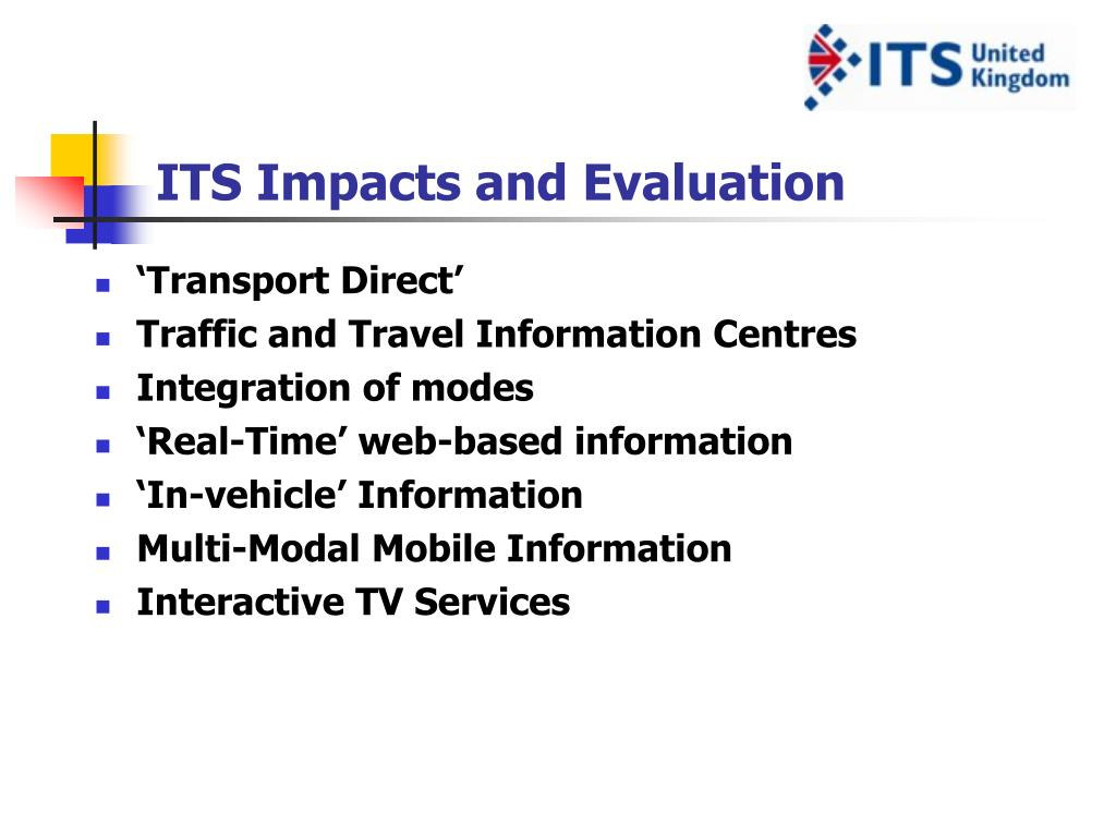 ITS Impacts and Evaluation