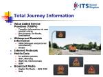 total journey information
