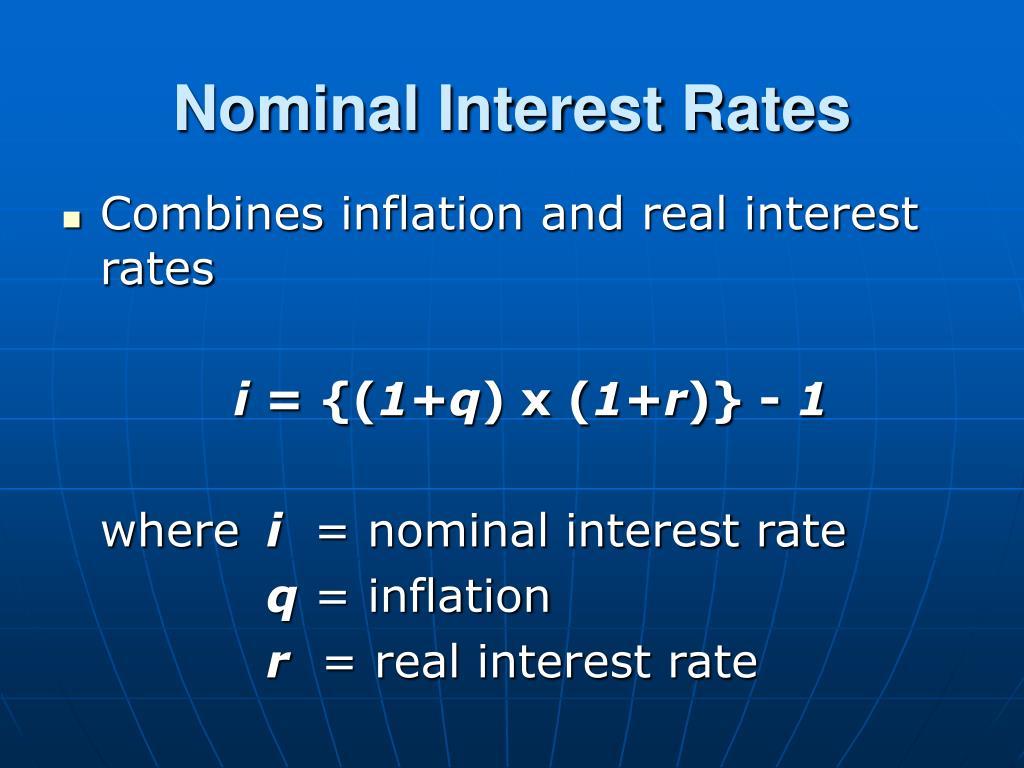 Nominal Interest Rates
