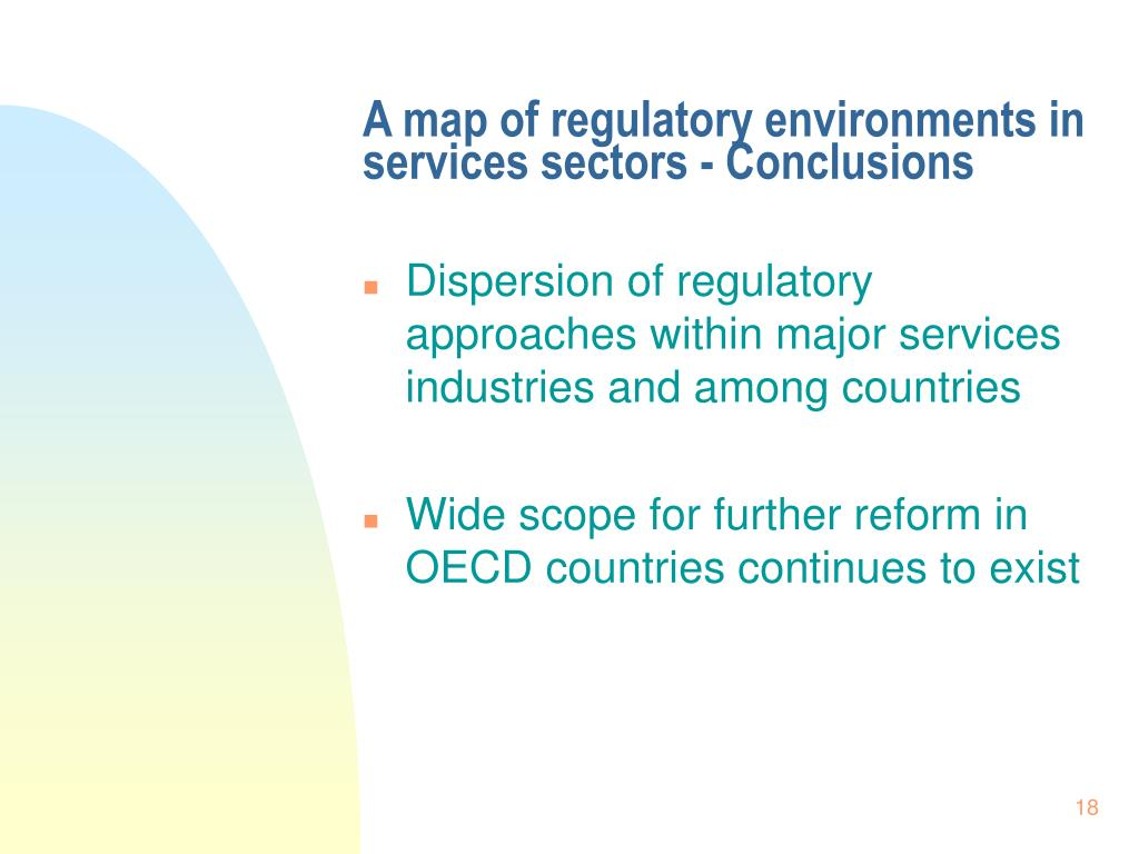 A map of regulatory environments in services sectors - Conclusions
