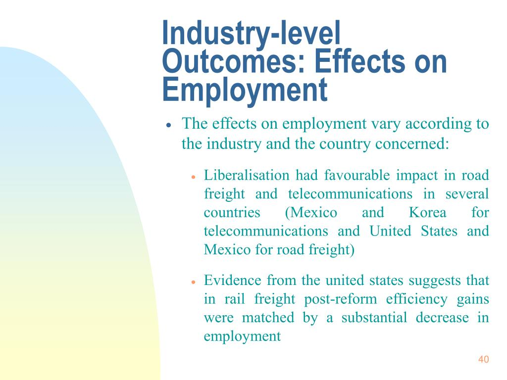 Industry-level Outcomes: Effects on Employment