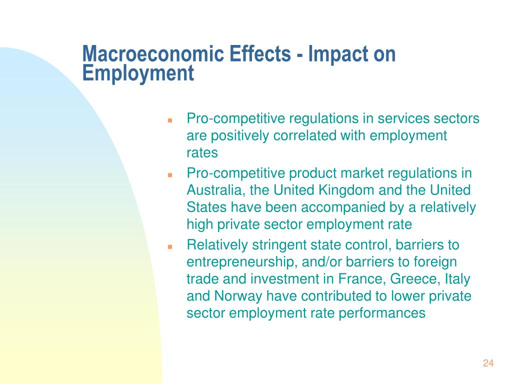 Macroeconomic Effects - Impact on Employment