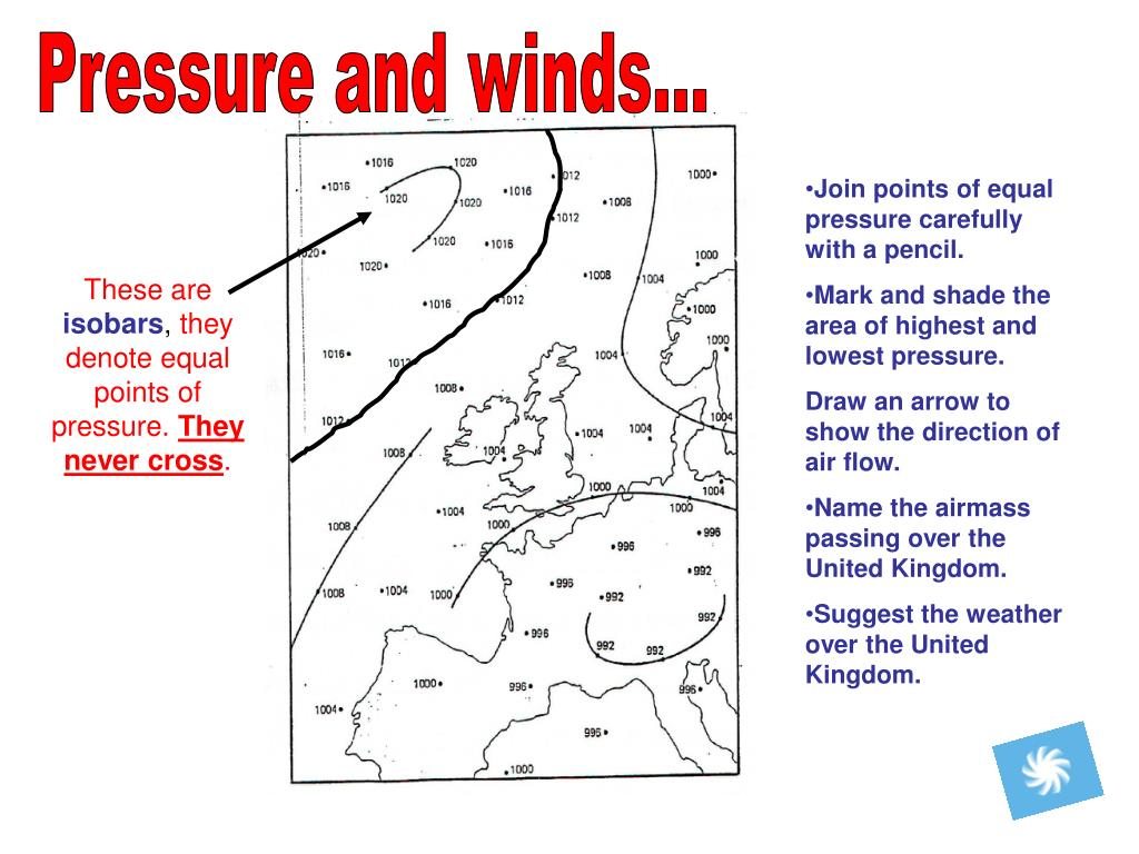 Pressure and winds...